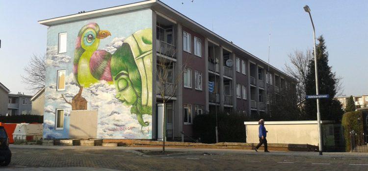 Oproep: dien je ontwerp in voor 6 muurschilderingen in Adelaarstraat kunststraat